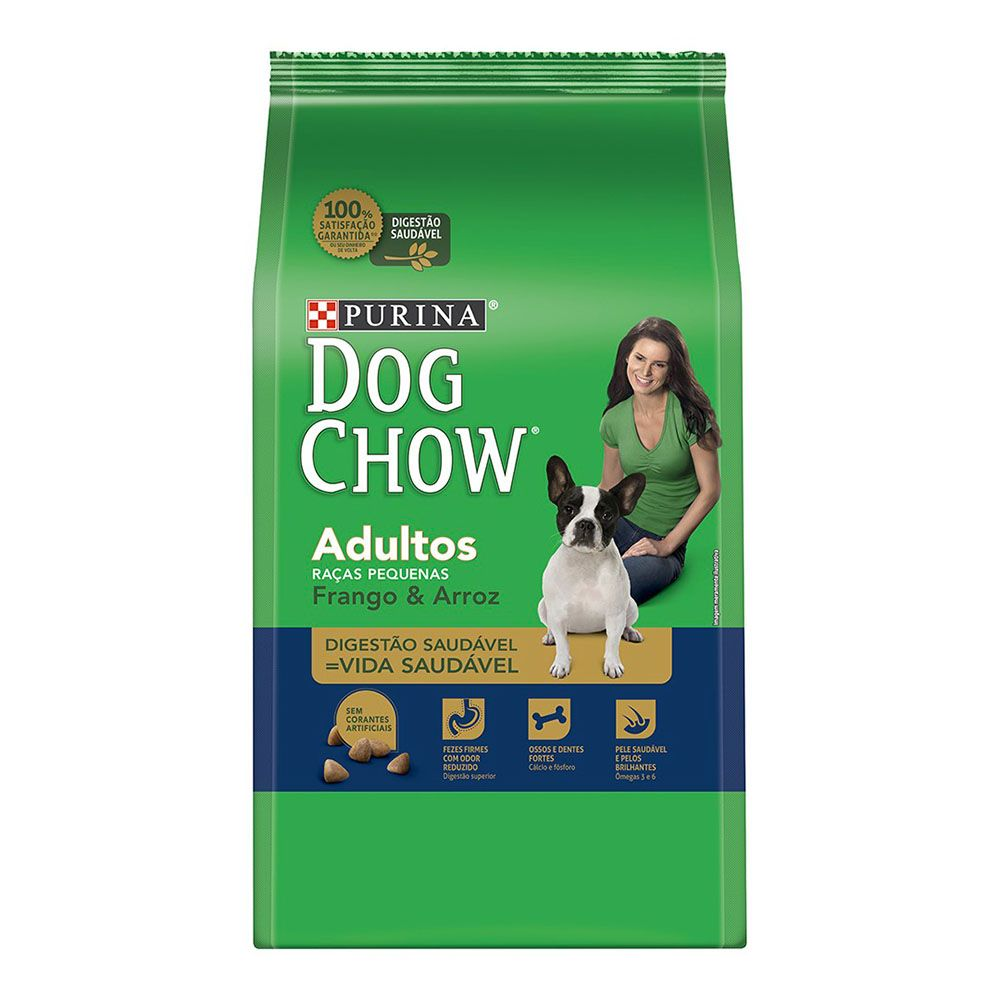 ra??o purina dog chow para c?es adultos de ra?as pequenas sabor frango e arroz 10kg