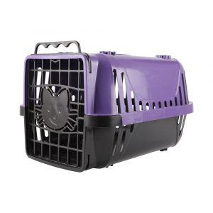 Caixa de Transporte para Gatos Evolution Pet Injet Lilás 10194