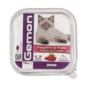 Ração Gemon Patê de Fígado de Frango para Gatos 100g