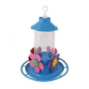 Bebedouro Beija-Flor Luxo com Poleiro Azul Jel Plast 50A