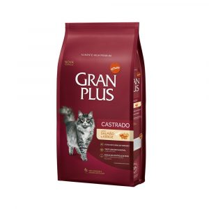 Ração Granplus para Gatos Castrados Salmão e Arroz 10,1kg