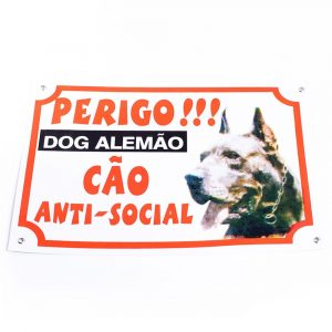 Placa de Advertência Dog Alemão 14112