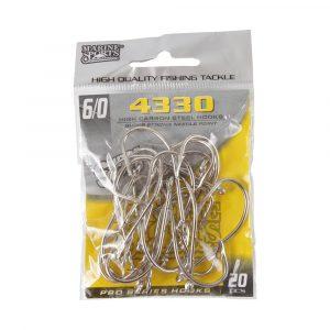 Anzóis para Pesca 4330 6/0 Super Strong com 20 Unidades