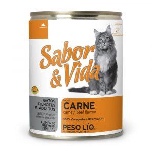 Ração Sabor & Vida para Gatos (Sabor Carne) - 290g (Lata)