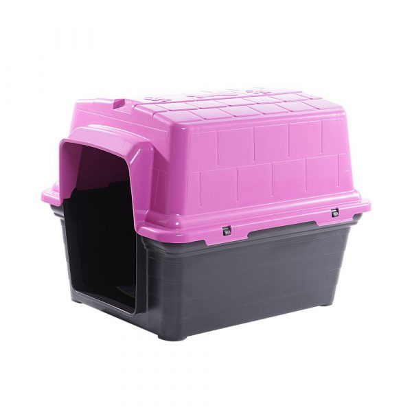Casinha Plástica N03 Furacão Pet Rosa