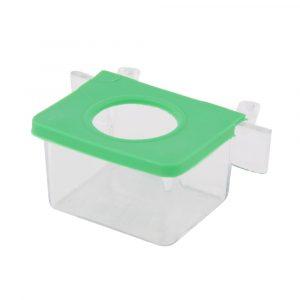 Comedouro com 1 Furo Cristal Jel Plast Verde