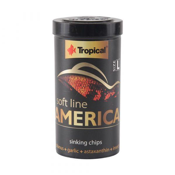 Ração Tropical Soft Line America Grânulos Grandes (Chips) 130