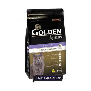 Ração Premier Golden Gatos Adultos Sabor Salmão 3Kg