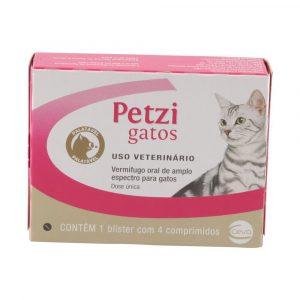 Vermífugo Petzi para Gatos com 4 Comprimidos