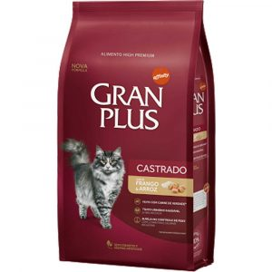 Ração GranPlus para Gatos Castrados Frango e Arroz 10,1Kg