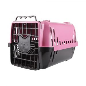Caixa de Transporte para Gatos Evolution Pet Injet Rosa 10193