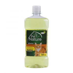 Shampoo 2 em 1 para Gatos Pet Nature 500mL