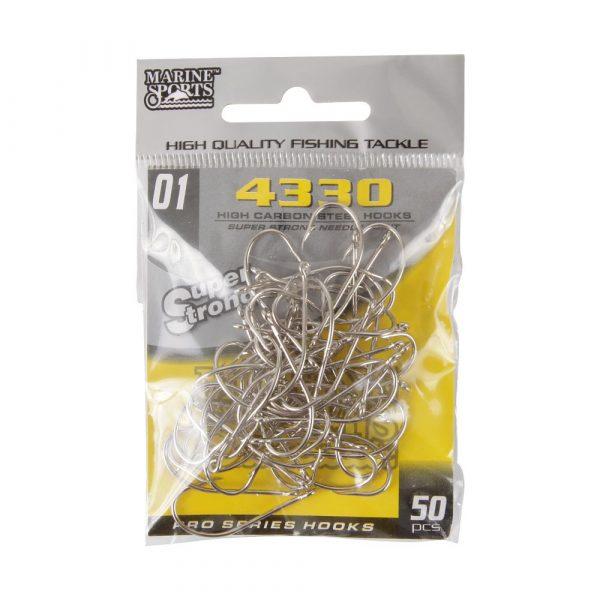 Anzóis para Pesca 4330 N01 Super Strong Pacote com 50 Unidades