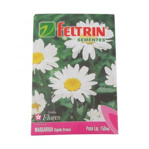Sementes Feltrin Linha Flores Margarida Gigante Branca 150mg