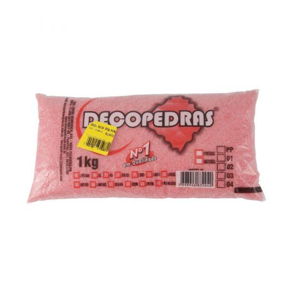 Areia para Aquário Decopedras Rosa Pink 1Kg