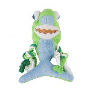 Brinquedo de Pelúcia com Corda Tubarão Verde Savana Pet