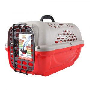 Caixa de Transporte Panther Plast Pet N01 Vermelha