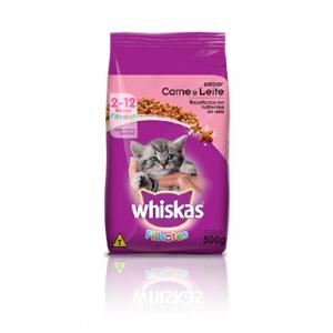 Ração Whiskas para Gatos Filhotes Sabor Carne e Leite 500g