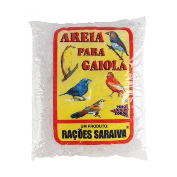 Areia para Gaiola de Aves Saraiva 1Kg