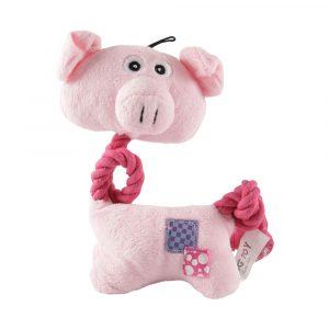 Brinquedo de Pelúcia com Corda Porquinho Savana Pet