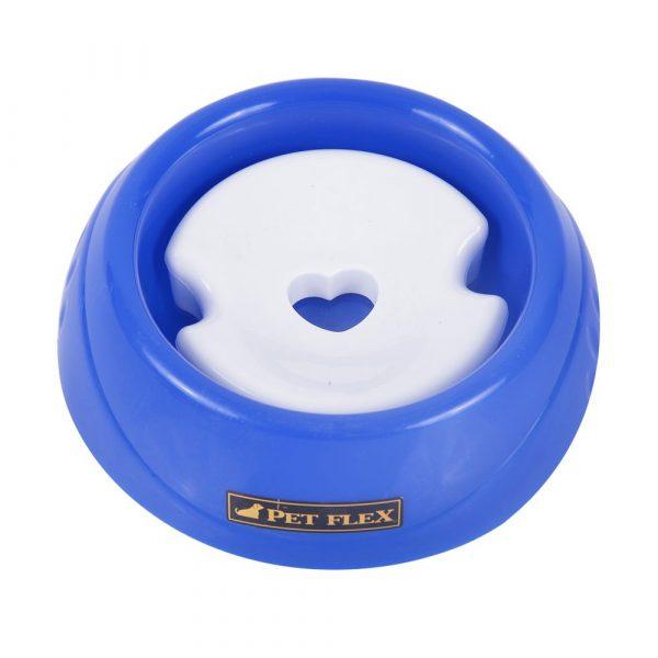 Bebedouro Pequeno para Animais de Pelos Longos Pet Flex Azul