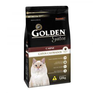 Ração Golden para Gatos Castrados Sabor Carne 1Kg
