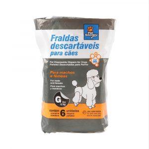 Fralda Descartável Tamanho G para Cães de 6 a 12Kg
