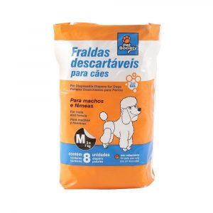 Fralda Descartável Tamanho M para Cães de 3 a 7Kg