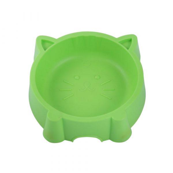 Comedouro Plástico Gatinho Verde SA193640