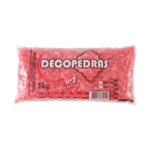 Cascalho Decopedras Vermelho 1Kg