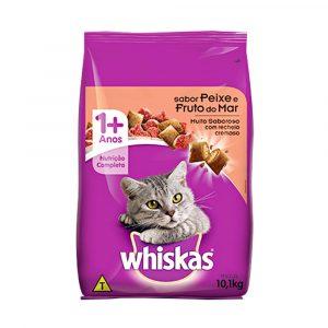 Ração Whiskas para Gatos Adultos Sabor Frutos do Mar 10kg