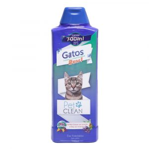 Shampoo e Condicionador Pet Clean para Gatos 700ml