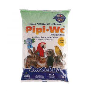 Cama Natural de Celulose Aroma Erva Doce Pipi WC 1Kg Zootekna