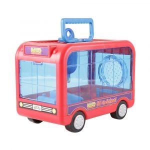 Acessório para Gaiola de Hamster Ônibus Vermelho