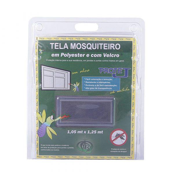Tela Mosquiteiro Protej 1,05m x 1,25m Cinza