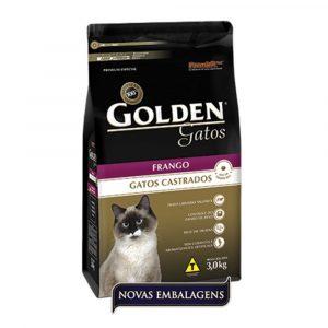 Ração Golden Gatos Adultos Castrados Sabor Frango 1kg