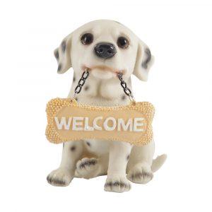 Enfeite Cachorro Filhote de Dálmata com Placa GF30884