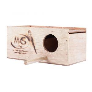 Ninho para Periquito em Madeira M&S Pet