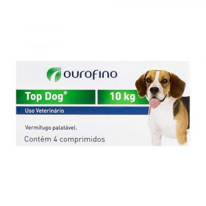 Vermífugo Top Dog para Cães de até 10Kg 04 Comprimidos