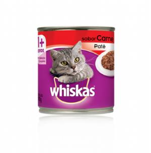 Patê Whiskas Lata para Gatos Adultos Sabor Carne Carne 290g