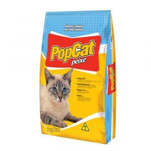Ração Popcat para Gatos Adultos Sabor Peixe 25Kg