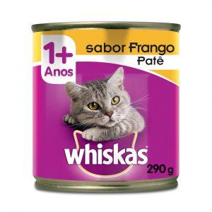Ração Whiskas Lata para Gatos Adultos Sabor Frango Patê