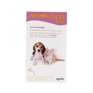 Revolution 6% para Cães e Gatos Filhotes de até 2,5Kg