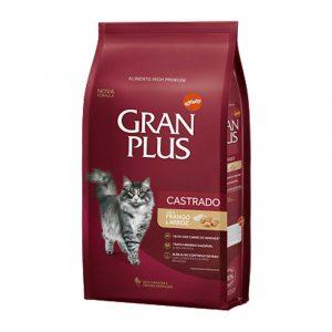 Ração Gran Plus para Gatos Castrados Sabor Frango e Arroz 3kg