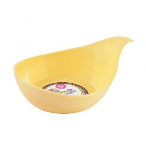 Comedouro / Bebedouro com 01 Alça para Gatos Amarelo