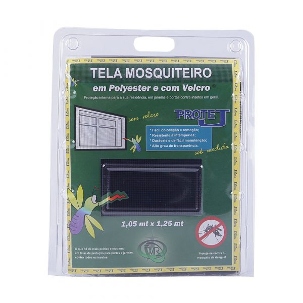 Tela Mosquiteiro Protej 1,05m x 1,25m Preta