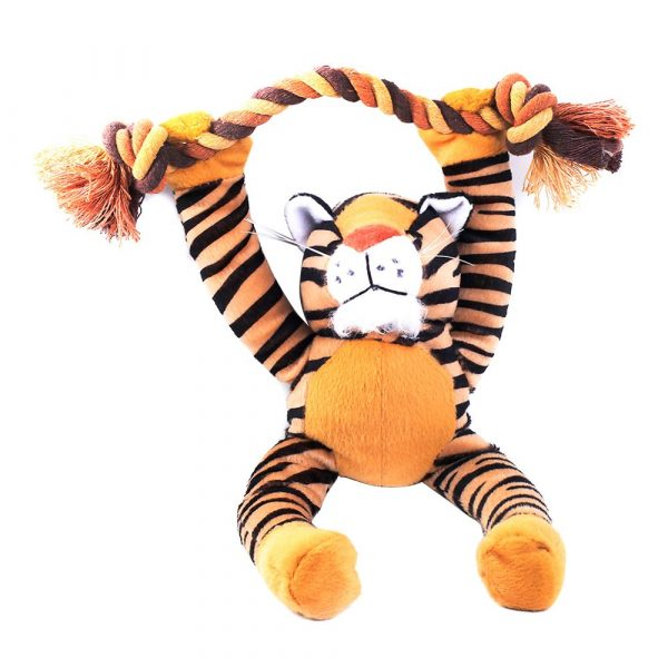Brinquedo Tigre de Pelúcia com Corda 70518 Chalesco
