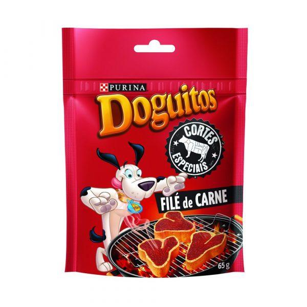 Petiscos Doguitos Cortes Especiais Filé de Carne para Cães 65g
