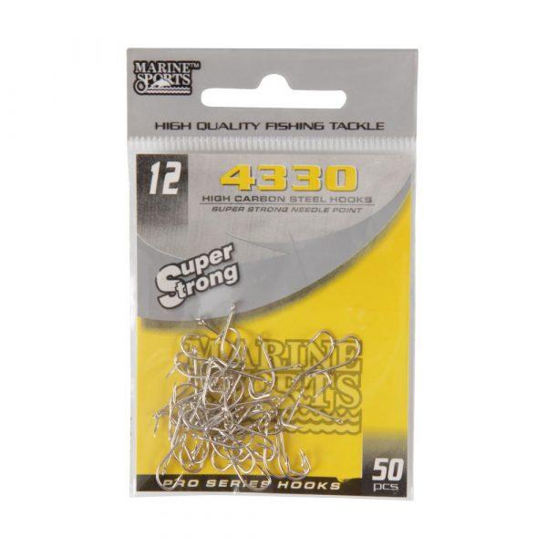 Anzóis para Pesca 4330 N012 Super Strong Pacote com 50 Unidades