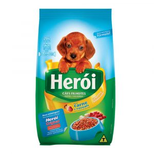 Ração Herói para Cães Filhotes Sabor Carne 25Kg
